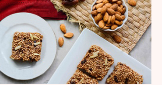 Almond Butter and Puffed Quinoa Squares