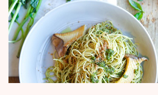 Creamy Dairy-Free Pesto Pasta by Chef Dan Churchill