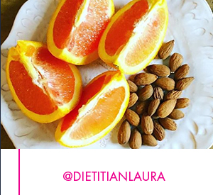Almonds with Orange Slices, by &DietitianLaura